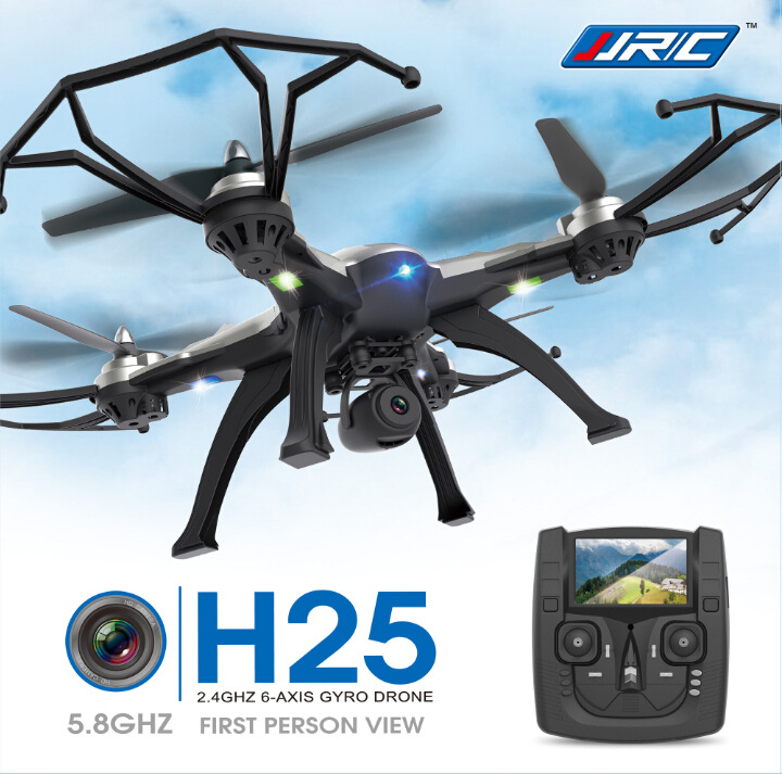 Nuevo Drone JJRC H25 5.8 G FPV RC Quadcopter con la cámara de 2MP 2.4 Ghz Quadco