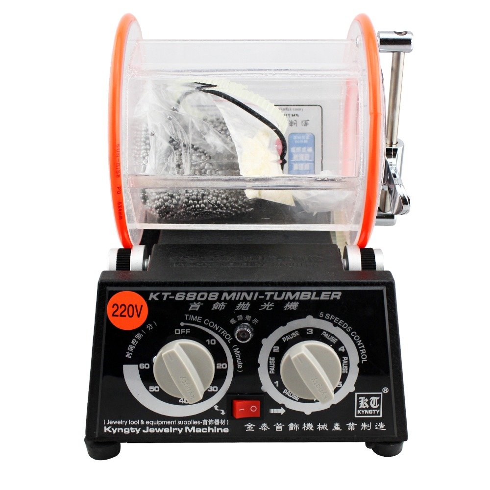 Jewelry Machine Rotary polisher, Rotating polishing machine, Jewelry Polishing machine, drum polishing machine 220/110V 1pcs 110v 220v magnetic tumbler jewelry polisher super finishing mt 140b