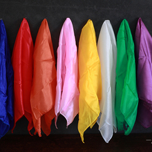 Scarf Gimmicks-Props Magic Tricks Learning Colorful Education Close-Up for Silk 45--45cm