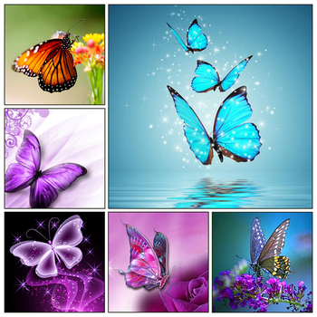 Animal Needlework 5D Diy Diamond Painting Cross Stitch Butterfly Painting Diamond Embroidery Full Square Diamond Mosaic Pictures