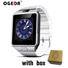 OGEDA 2019 บลูทูธ Smartwatch ผู้ชาย DZ09 Android Call Relogio 2G GSM SIM TF Card สำหรับ iPhone Samsung HUAWEI PK GT08 A1(China)
