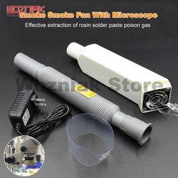 Wozniak microscópio exaustão ventilador de extração eficaz de resina de soldagem óleo gás fume exaustor