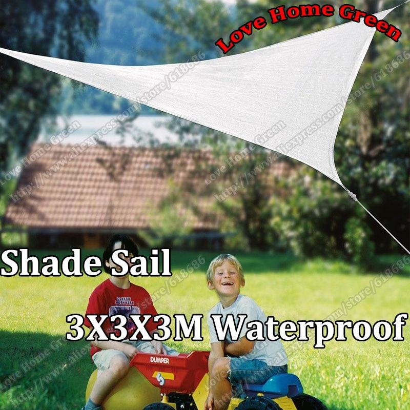 Nový UV vodotěsný trojúhelníkový sluneční clona 3m X 3m X3m - Zahradní produkty