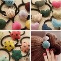2015 оптовая продажа цена мода прекрасные девушки детей эластичный диапазон волос горошек ленты для волос аксессуары для для женщин ободки