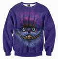 Jumper Outfits Sweatshirt Men/Women Hoodies 3d Print The Cheshire Cat Long Sleeve funny Sweatshirt Winter Warm Hoodies