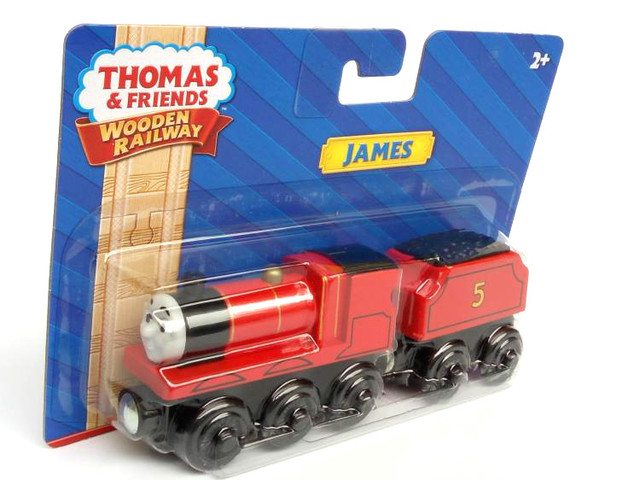 RARE NEW JAMES & TRUCK Original NIB Thomas And Friends Wooden Magnetic Railway Model Train Engine Boy / Kids Toy Christmas Gift