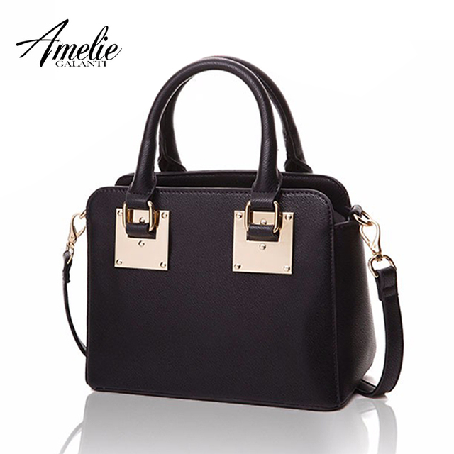 AMELIE GALANTI Women Handbags Soft PU Leather Shoulder Bag Totes Flap Crossbody Bags Solid Sequined Classical Versatile Bags