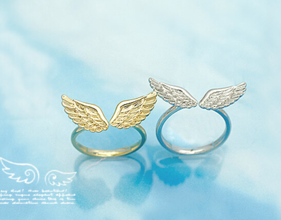 nz16 17mm size Fashion Korean Wholesale Small Shiny Angel Wings Classic Fashion