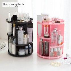 Makeup Organizer 360 Rotating Adjustable Storage Box Large Capacity Rack for Cosmetics Brushes