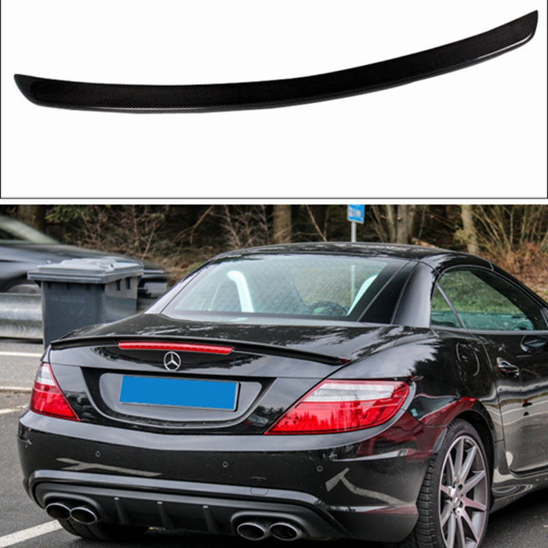 Carbon Fiber Rear Wing Spoiler rear trunk spoiler For Mercedes Benz R172 SLK 2012-2013 цена