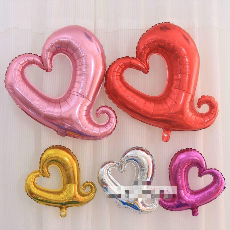 16 inch 32 inchheart shaped aluminum balloons 1 pcs wedding anniversary birthday party decoration