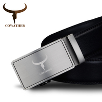 COWATHER 2017 Men S Fashion 100 Cow Genuine Leather Belts For Men High Quality Belt Automatic