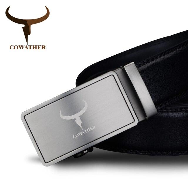 COWATHER 2017 мужская мода 100% корова натуральная кожа пояса для мужчин высокое качество ремень автоматическая пряжка ремня мужчина бесплатно доставка