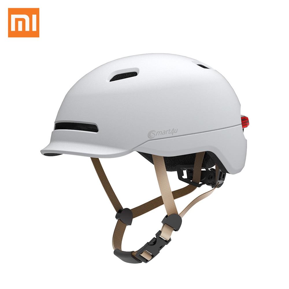 Xiaomi Smart4u Waterproof Bicycle Matte Helmet Smart Flash Helmets Back Light Riding Mountain Road Scooter For
