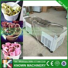 Big pan thai ice cream rolling machine, fry ice cream roller machine with R410a refrigerant