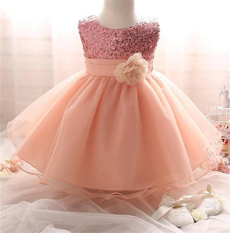 e0fa73760b52d New Born Baby Girl Winter Christmas Clothes Flower Tutu Dress For Girls  Princess Dress Infant 1 Year Birthday Girl Party Dress