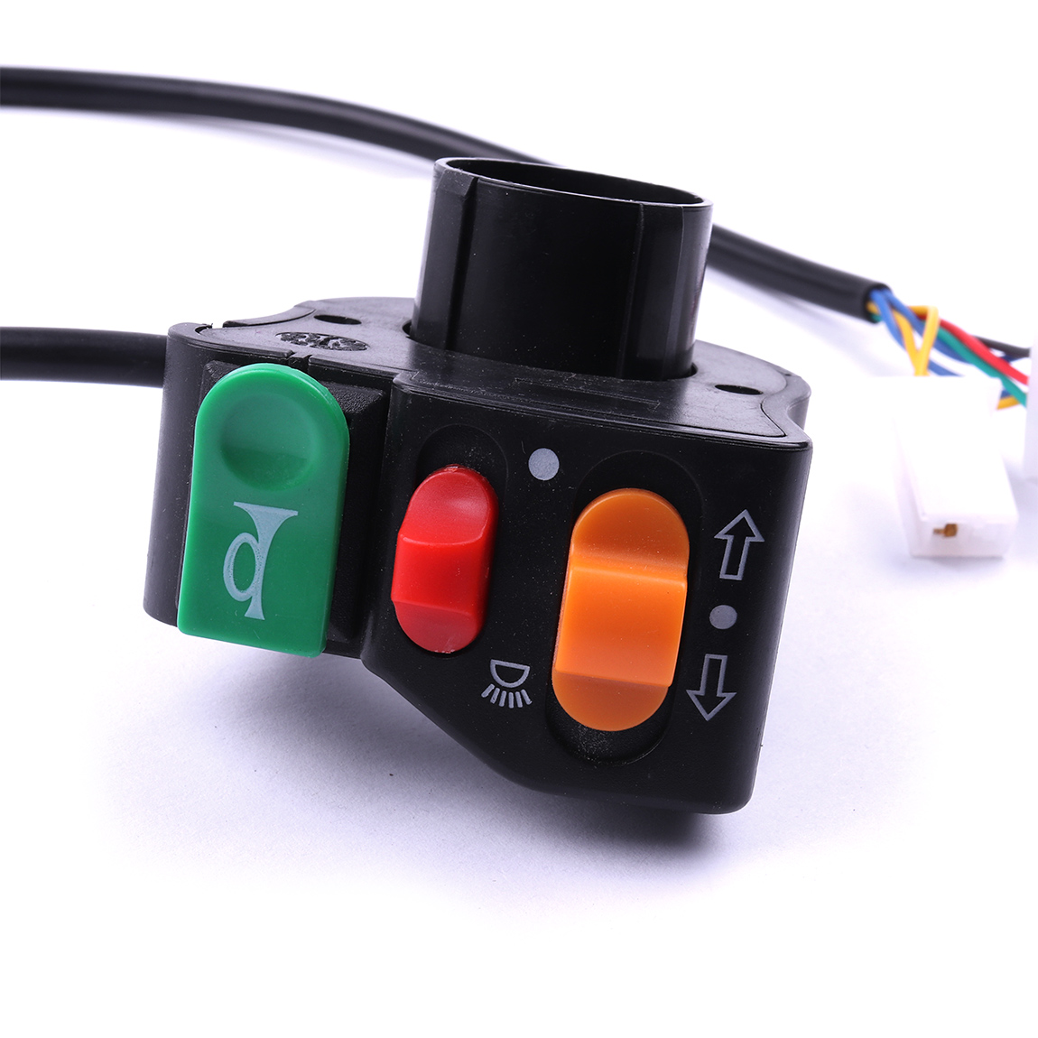 1/2/5pcs Black  Red Green Colors 38cm Headlight Switch Horn Turn Signal Ebike Motorcycle Scooter ATV With 7/8