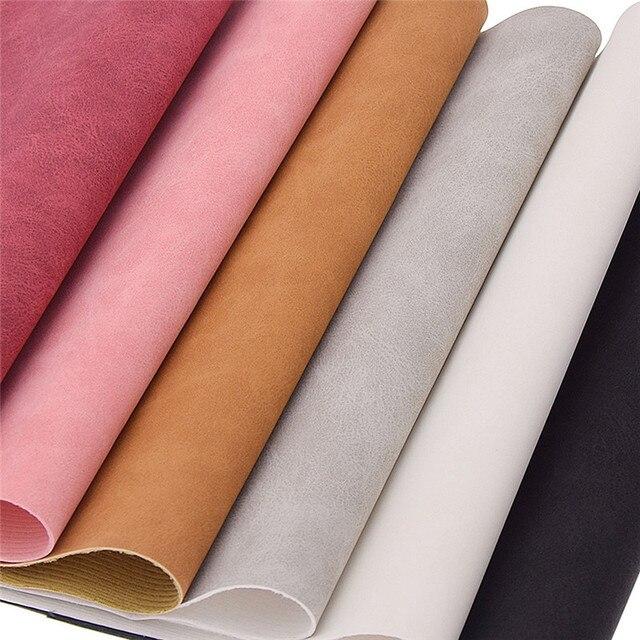 Chzimade 21x29cm A4 Pelle Scamosciata Del Faux DELL'UNITÀ di elaborazione del Tessuto Per Abbigliamento Multicolore Impermeabile In Pelle Sintetica Tessuto di Cucito FAI Da TE Materiale 4