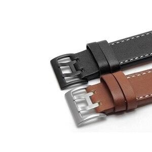 Image 5 - PEIYI עור רצועת להקת רוחב 20mm 22mm זוגי שורה חור עור חגורת שעון שעון אביזרי להחליף עבור המילטון