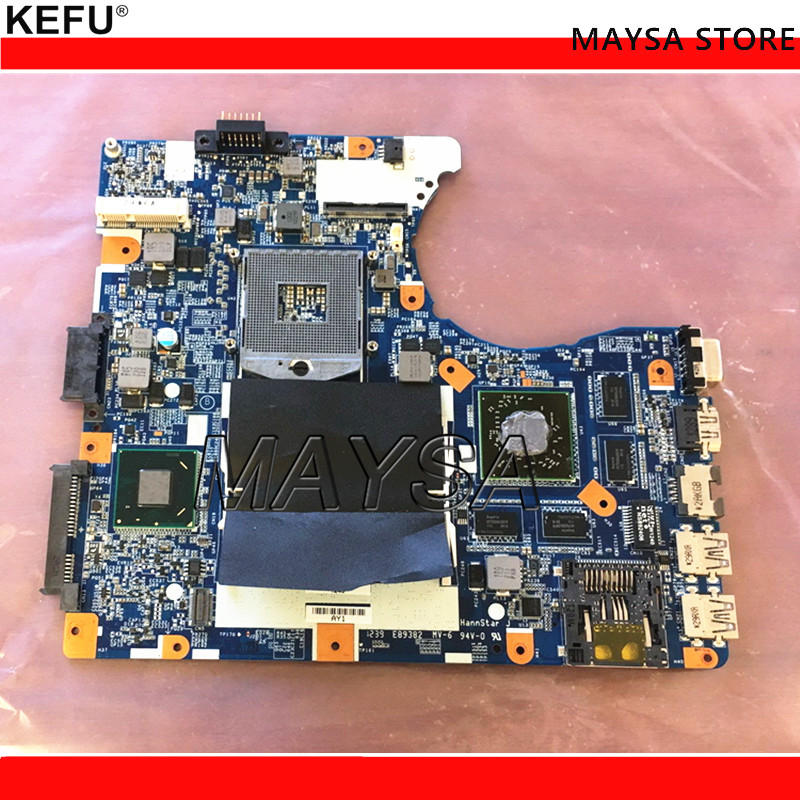 KEFU Fit For SONY VIAO SVE14A SVE14 Series Laptop Motherboard MBX-276 DDR3 HM76 HD 7600M Series GPU MB 100% Tested Fast Ship mbx 267 fit for sony sve17 series mbx 267 z70cr mb s1204 2 48 4mr05 021 laptop motherboard hm70 sjtnv