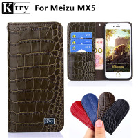 K Try For Meizu MX5 Case 5 5 Inch Flip Wallet Luxury Genuine Leather Cover For