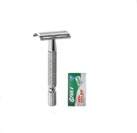 BAILI Zinc Alloy Classic Safely For Men with   Razor   Blade for Beard Hair Cut Care personal care