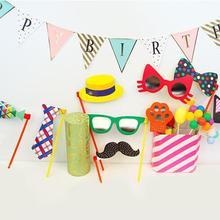 Реквизит для фотостудии Свадебная маска с фальшивыми усами очки Кепка на палочке приколы веселая вечеринка день рождения DIY реквизит для фотографий принадлежности для мероприятий