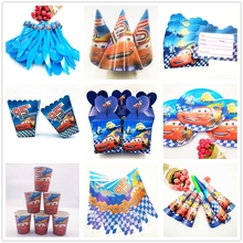 132pcs Disney Lightning McQueen Theme Kid Birthday Party Decoration Supplies Disposable Tableware Baby Shower Favors Gifts Set