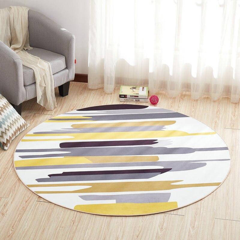 Круглый ковер, коврик для двери, современные ковры для гостиной, ковер для спальни, Противоскользящий коврик для пола, домашний текстиль - Цвет: Color A
