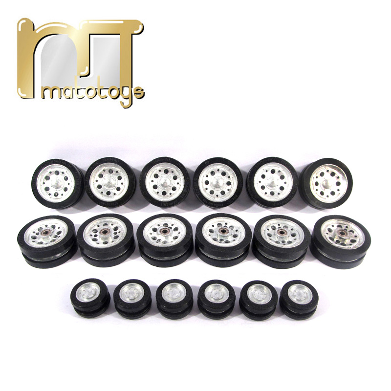 Mato Metal road wheels and return rollers for Mato 1223 German Panzer III 1226 German Stug III 1/16 1:16 RC tank mato 1 16 stug iii rc tank full metal upper hull mt189 spare parts