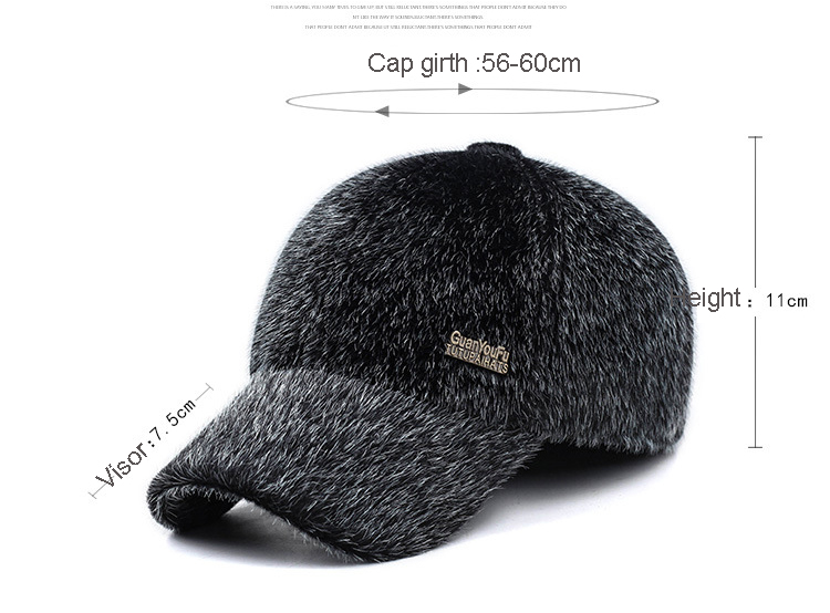 17 Winter Men's Warm Baseball Caps with Ear Flaps in Cold Weather Families Dad's Warm Hats Father's Best Gifts Keep Warm Hats 1
