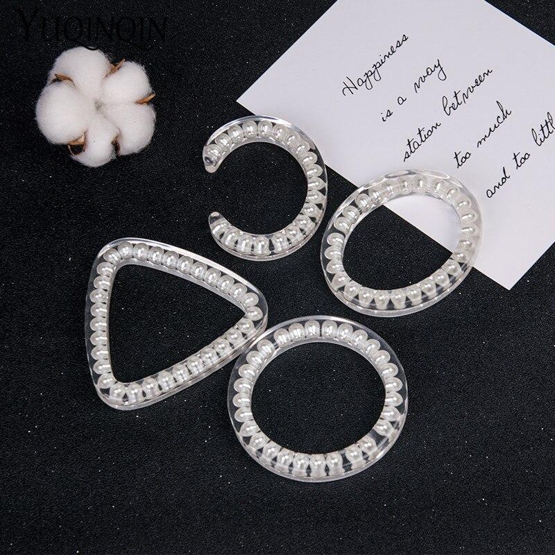 GuanLong Trendy Fashion Resin Pearl Cuff Women Open Bracelet and Bangles Geometric Acrylic Bangle Girl Jewelry Multiple Styles