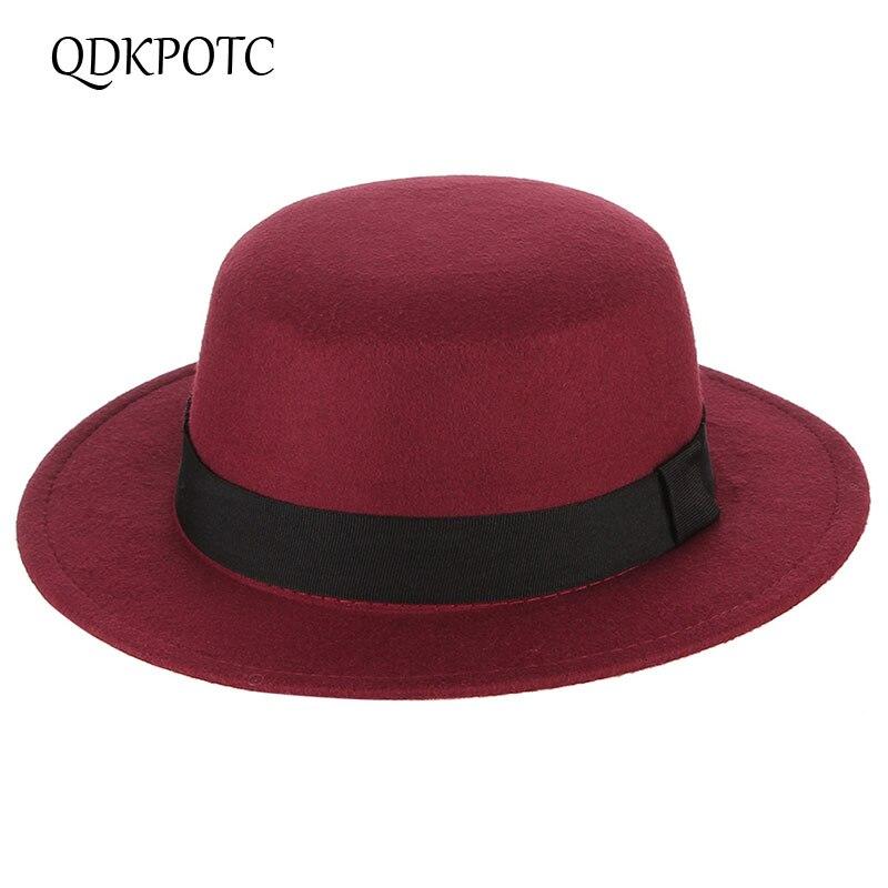 33f430671291 QDKPOTC 2018 otoño invierno nuevas Fedora mujeres ocio exterior gorra  Trilby mantener caliente ...