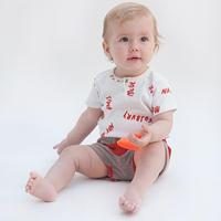 2017 Cute Baby Girl Clothes Newborn Infant Baby Romper Letter Print Short Sleeve Cotton Bebes Clothing