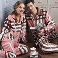 Engrosamiento Térmica de invierno Pijamas de Franela Hombres Home Ropa de Coral Polar Pijamas de Las Mujeres ropa de Dormir de Las Mujeres Pijamas de Invierno Twinset