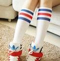 Baseball Knee Long Stocking Men Women Striped Cotton Fashion Knee Stockings Hot