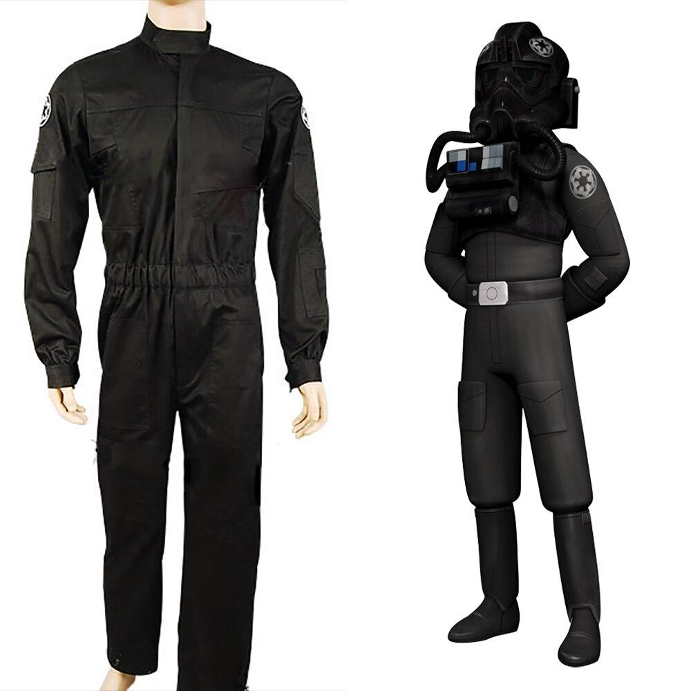 Здесь продается  Star Wars Imperial Tie Fighter Pilot Flight Suit Cosplay Costume Uniform Suit Free shipping Full Set  Одежда и аксессуары