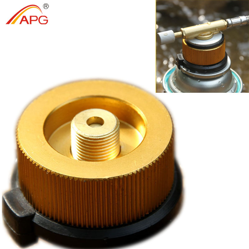 APG stoves gas adapter og aluminium legering adapter til butan gas cylinder