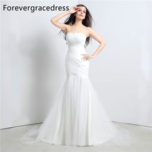 Forevergracedress Real Photos White Wedding Dress Mermaid Sweetheart Long Lace Up Back Bridal Gown Plus Size Custom Made