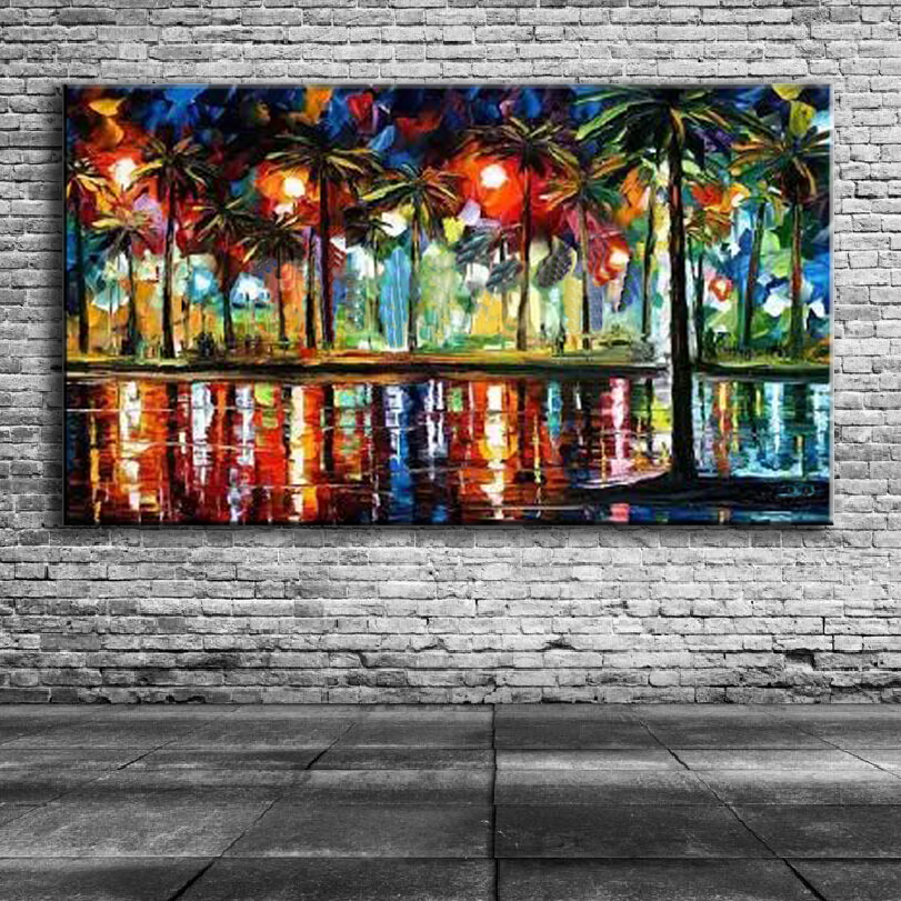 100% handpainte oil Painting Knife HD painting canvas home Photo Wall Picture for Living Room