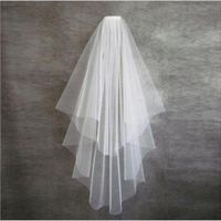 Wedding Accessories One Layer Appliqued For Adults Cheap Small White Wedding Veils 2016