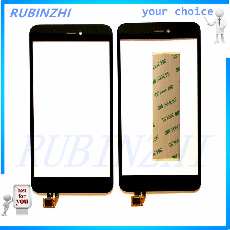 RUBINZHI Phone Touch Panel Sensor For Micromax Canvas Spark 3 Q385 Touch Screen Digitizer Glass Touchscreen Replacement+Tape