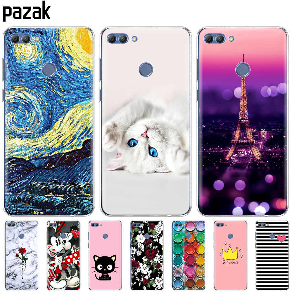 Silicone phone Case For huawei Y9 2018 cases soft TPU Phone Back cover full 360 Protective colorful new design