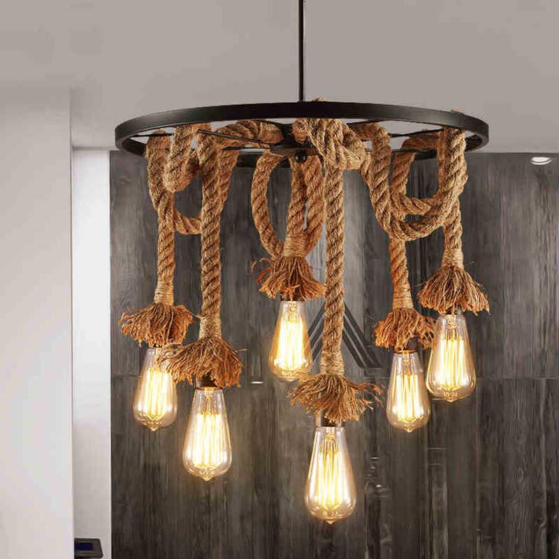 Лофт ретро старинные настенные светильники E27 световые шнуры ресторан бар освещение для гостиной, столовой кафе-бар в клуб, в офис, промышленность Ветер люстра