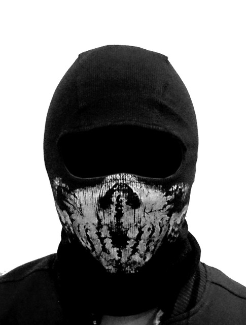 (Fast shipping) NEWest Balaclava Hood Full Face Masks For Ghosts Skull Bike Skiing Hood Ski Mask 3