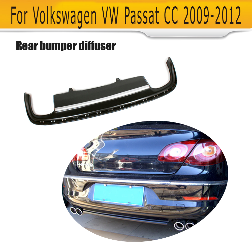 PU Auto Rear Diffuser Lip Spoiler for VW PASSAT CC 2008-2012 Car Styling matt black pu auto rear bumper diffuser lip spoiler fit for volkswagen vw passat cc 2009 2012 car tuning parts