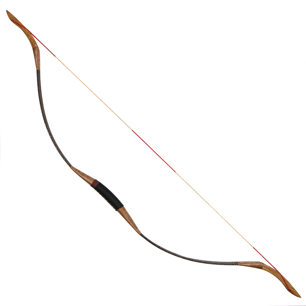 Traditional archery recurve bow 30-50lbs Chinese one-piece hunting bow 1 piece hotsale black snakeskin wooden recurve bow 45lbs archery hunting bow