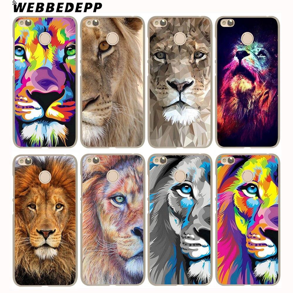 WEBBEDEPP Big Lion On Stone snow Case for Xiaomi Mi 8 SE A1 5S 6 Redmi 4A 5A 4X 5 Plus Note 5 Pro 4X