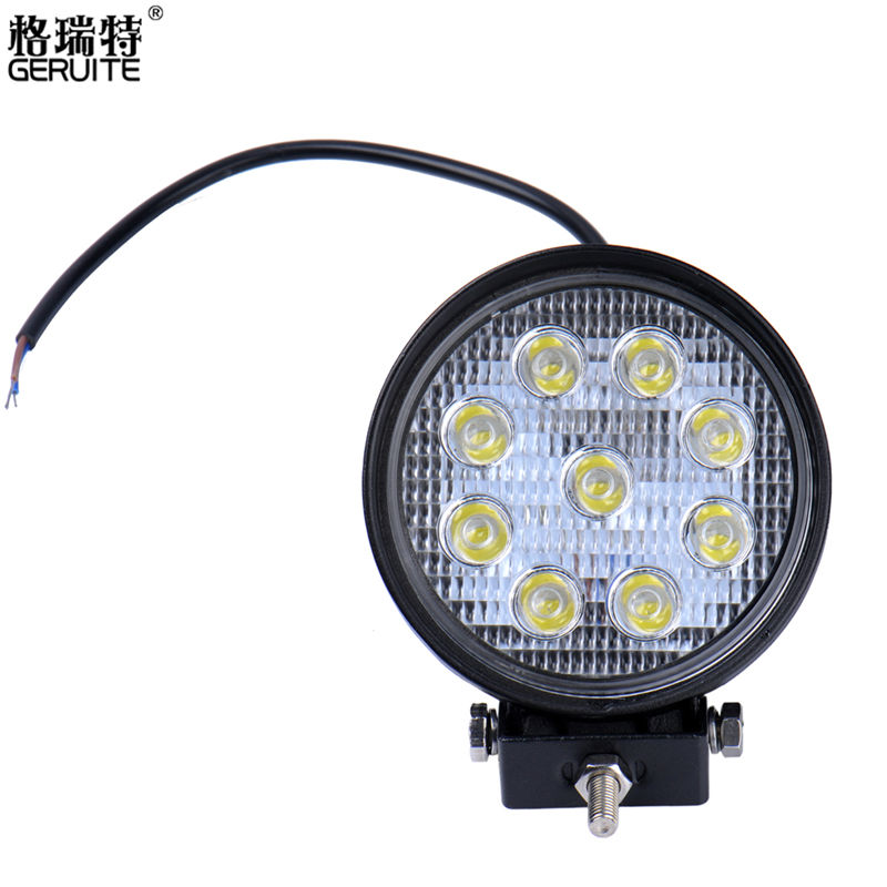 2017 27W LED Work Light 60 Degree High Power LED Offroad Light Round Off road LED Work Light Flood Light for Boating Hunting 90w led driver dc40v 2 7a high power led driver for flood light street light ip65 constant current drive power supply