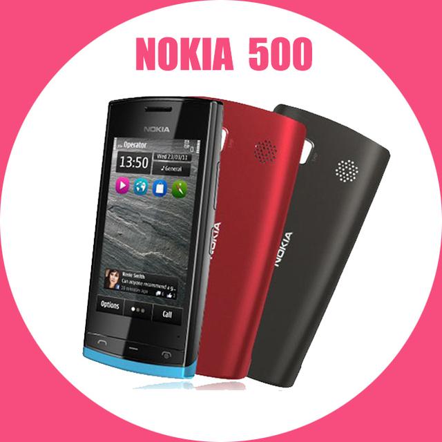 Teléfono móvil Nokia 500, destino WIFI GPS 5MP 3.2 '' pantalla táctil abrió el año de garantía